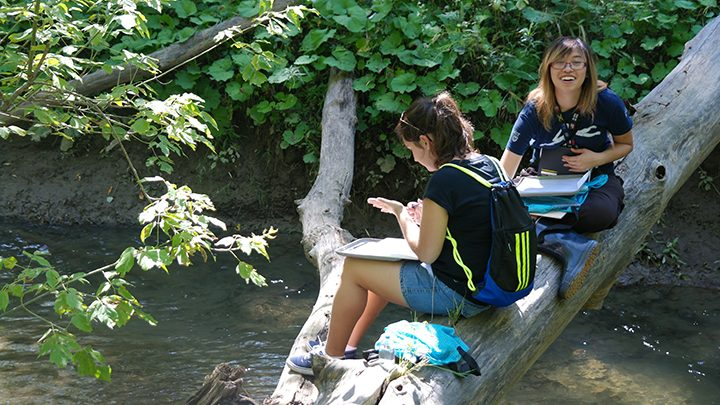 Photo of students at cold water creek