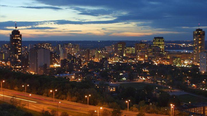 Hamilton landscape at night