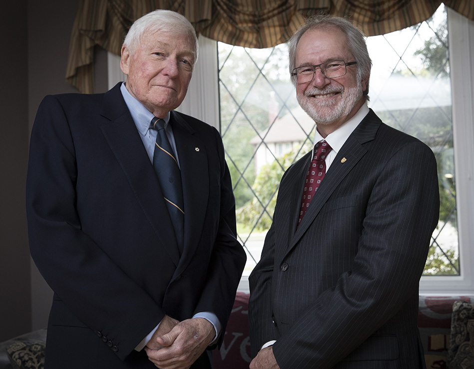 Image of Chancellor Emeritus Wilson and President Deane