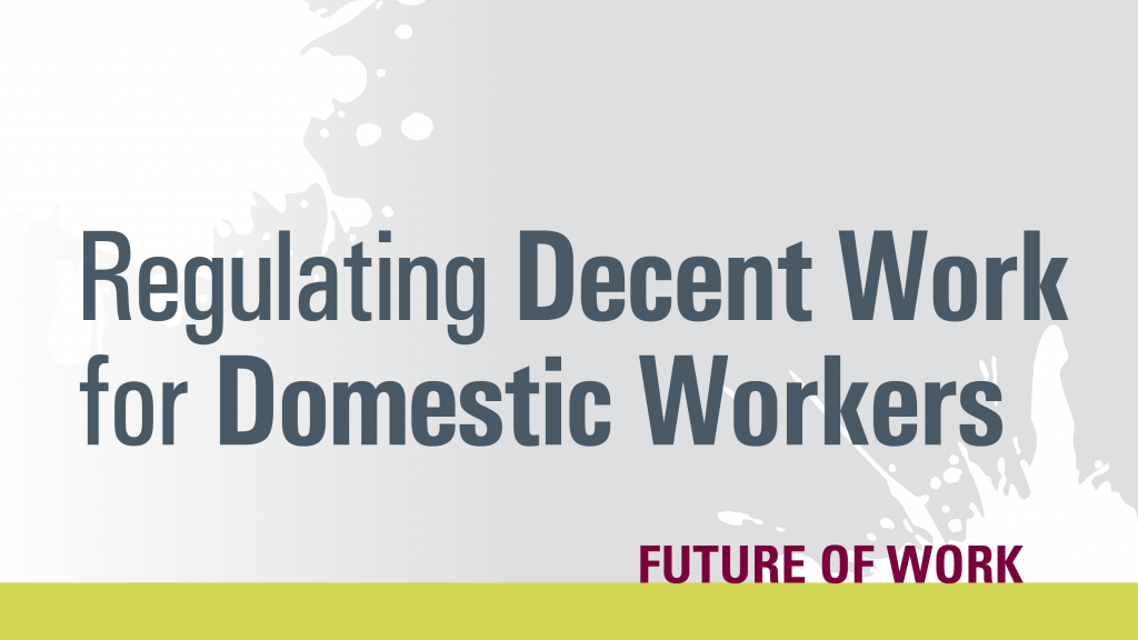 text: regulating decent work for domestic workers