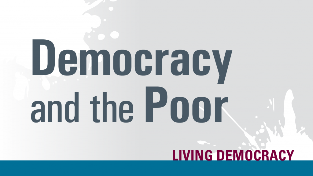 test: democracy and the poor