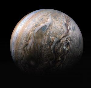 Jupiter's stormy northern hemisphere
