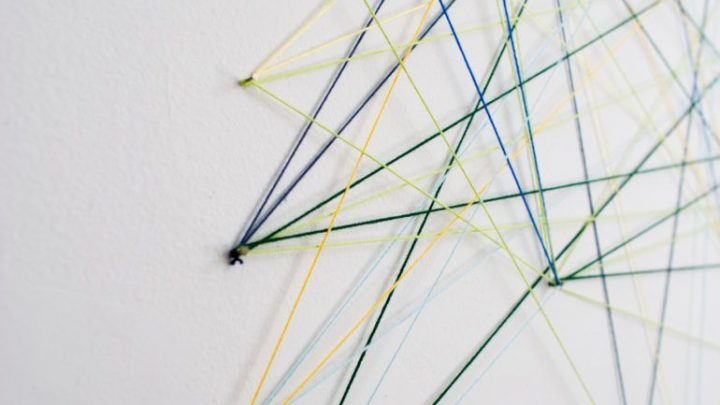 image of a string mural