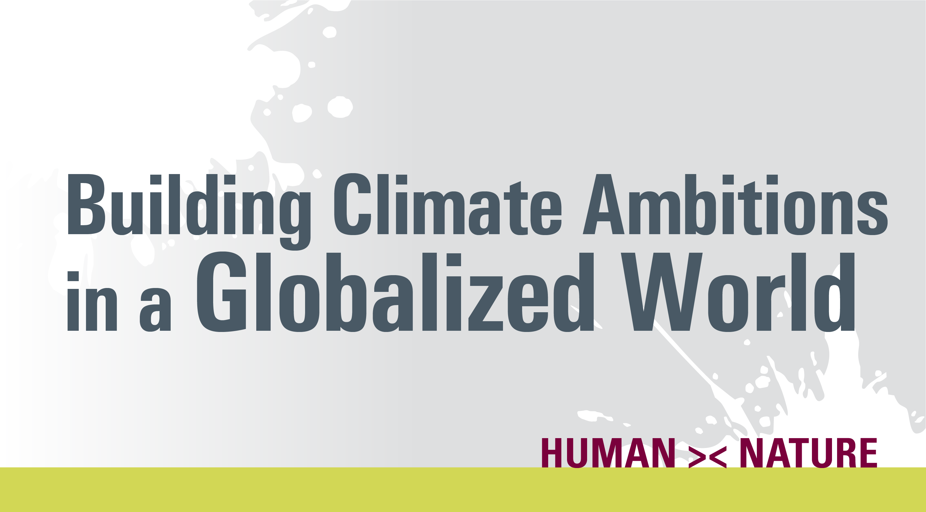 text only image: building climate ambitions in a globalized world