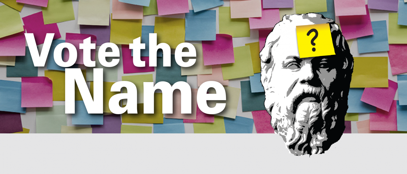 socrates head on a background of post-it notes