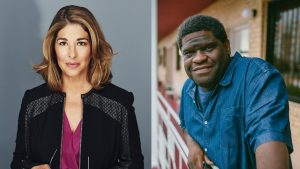 Photo of Naomi Klein and Gary Younge