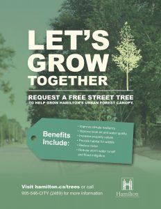 Poster for the City of Hamilton Street Trees Program